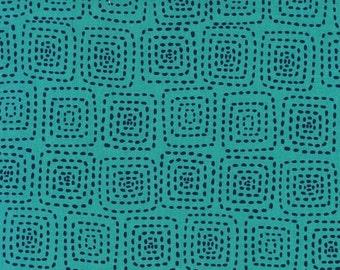 Michael Miller Fabrics - Stitch Square Turquoise - CX5944-TURQ-D