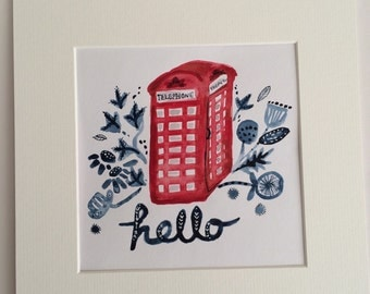 hello- A5 Giclee art print on archival paper.