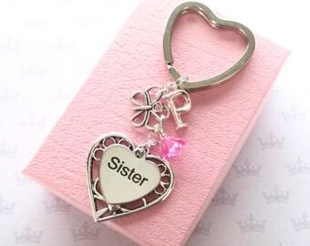 Personalised Sister keyring - Butterfly keychain for Sister - Sister birthday - Custom Sister gift - Butterfly keyring - Etsy UK
