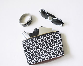Leather & Jacquard Travel Bag (S)/ Cosmetic Bag/ Wash Bag/ Toiletry Bag