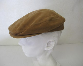 Newsboy Cap Mod Rocker Cap Medium Cabbie Hat Suede Hat
