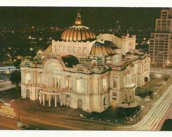 Palacio de Bellas Artes, Palace of Fine Arts, Mexico  1960's era postcard