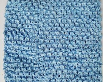 """BLUE 10"""" X 9"""" crochet tutu top  - tutu dress supply,tutu top,stretchy tutu dress top"""