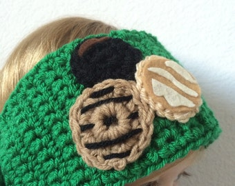 girl scout cookie hat, girl scout cookie headband, cookie hat, cookie headband