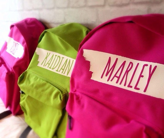 Mini Personalised Backpack with ANY NAME Pre School Young Children Kids Children School rucksack