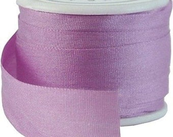 6 Yds (5 M) Embroidery Silk Ribbon 100% Silk 13mm - Lavender - By Threadart