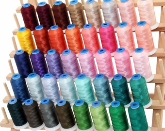 Rayon Machine Embroidery Thread Set C - Big 1000m Cones - 40 Colors - 40wt