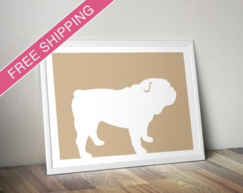 Bulldog Print (version 2) - Bulldog Silhouette