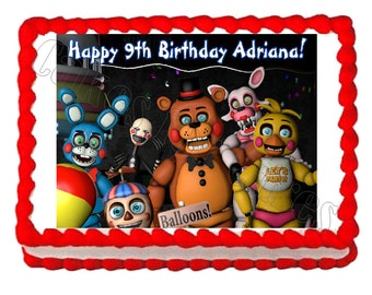 Five Nights at Freddy's FNaF 3  party edible cake image cake topper frosting sheet