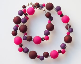 necklace berry pink purple polaris necklace