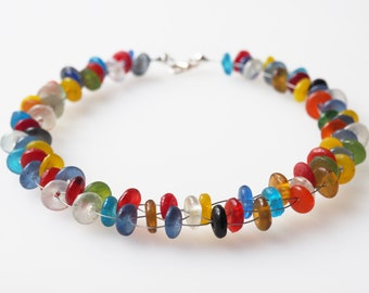 colorful necklace glass