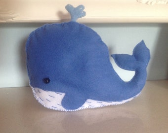 Plush Felt Animal Whale Stuffed Toy