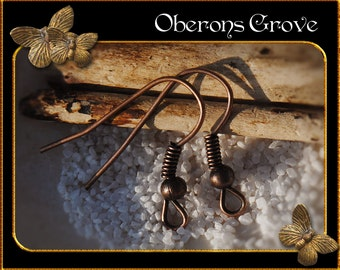 100 fishhook earhooks copper