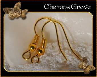 50 fishhook earhooks gold