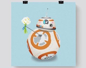 BB8 Star Wars Print