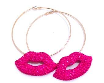 KISSABLE LIPS HOOP Earrings