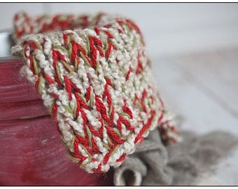 Super Chunky Mini Blanket Basket Stuffer Photography Prop Christmas
