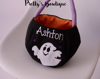 Halloween Bucket Personalized with Name – 4 Styles Available