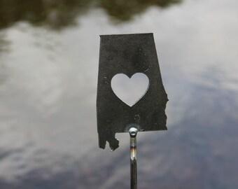 Alabama State Heart Garden Art Stake