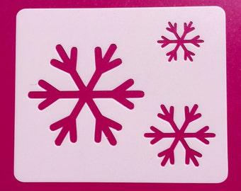 SnowflakeStencil, Reusable, Craft Stencil, Painting Stencil, Stenciling, Mylar, Stencil, Snowflake, Template, Snow