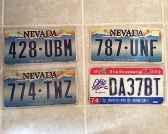 Choose 1 License Plate