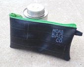 Phone Wallet - Recycled Bike Tube - All Purpose Zipper Pouch - Cyclist Gift Under 20