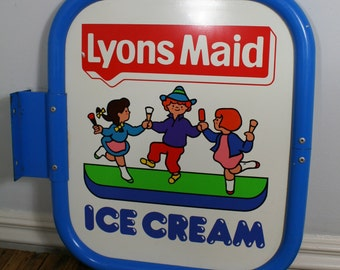 Lyons' Maid double-sided ice cream sign
