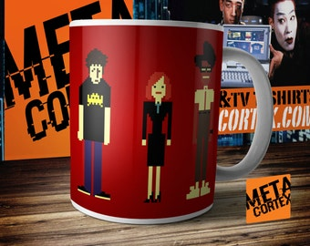The IT Crowd Pixel Characters Mug