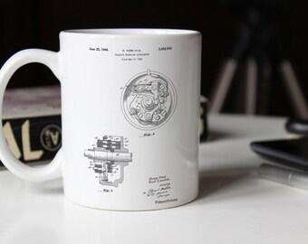 Distributor 1946 Patent Mug, Car Part Mug, Henry Ford, Car Enthusiast, Mechanic Gift, Man Cave Decor, PP0839