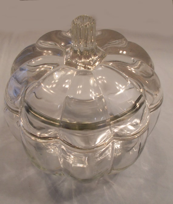 Glass Pumpkin Dish Bowl
