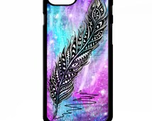Angel Feather pretty girly stars aztec tie dye colourful pattern print graphic animal cover for iphone 4 4s 5 5s 5c 6 6 plus SE phone case