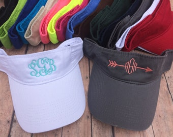 Monogrammed visor, Womens hat, visor, monogram hat, visor hat, womens visor, bridesmaids hats, bridesmaid gift, personalized hat, vizor