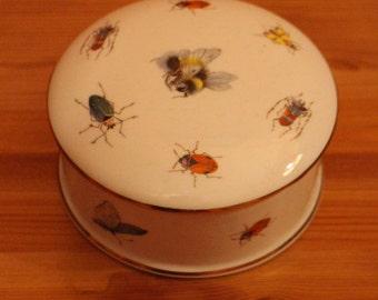 Harrods Jewellery Beauty Trinket Box insects print design