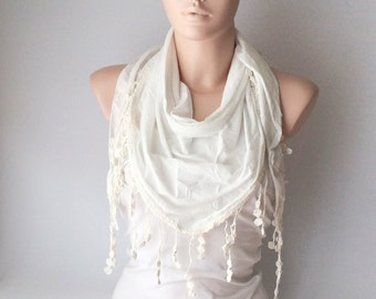 Wedding Shawl, Bridal Shawl, Cream, Ivory  Wrap Shawl