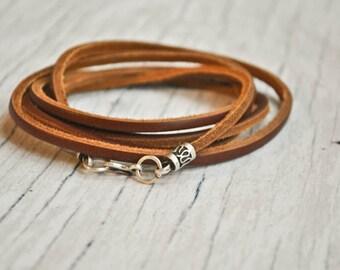 Minimalist Wrap leather bracelet | unisex wrap leather bracelet | wrap leather wristband | pulsera cuero | lederarmband | boho chic bracelet