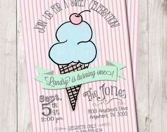 Sweet Celebration Ice Cream Invitation
