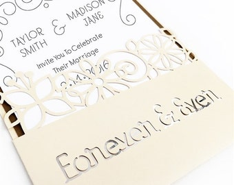 Glamorous Save the Date Cards- set of 10
