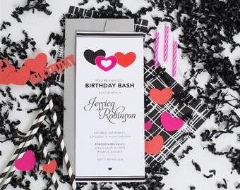 Birthday Bash invitations-set of 10