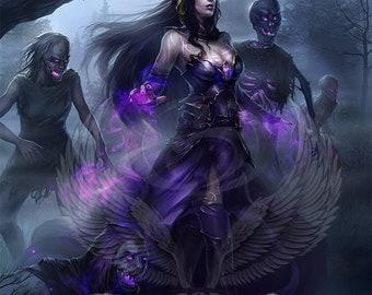 1x Liliana, the Last Hope Emblem #2 Custom Altered Eldritch Moon MTG