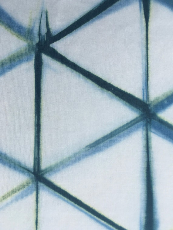 Drawing Lines In Qml : Shibori fabric geometric triangle from