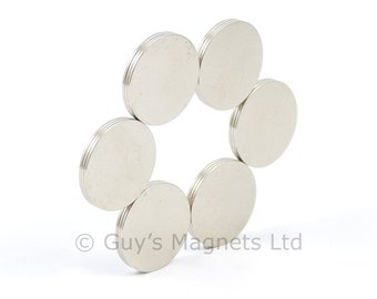 13mm x 0.5mm strong N35 neodymium round circular disk magnets ideal for magnetic card closures GuysMagnets