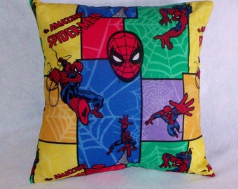 SPIDERMAN cushion cover - Marvel  Super Hero - cotton, made in Australia - CLEARANCE