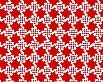 Jet Setter Studio 37 Marcus Brothers fabric 5594 red white houndstooth check geometric sewing quilting 100% cotton fabric by the yard