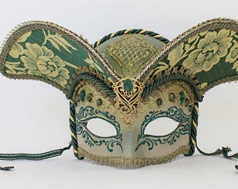 Venetian Mardi Gras Mask Signed NWT Vintage with Original Tags Italy Costume