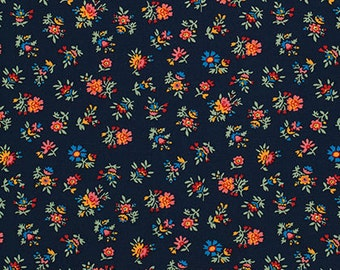 Shelburne Falls Multi Floral - Maple by Denyse Schmidt for Free Spirit Fabrics, 1/2 yard, PWDS043.Maple