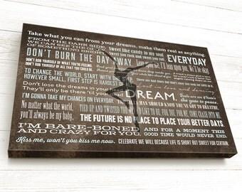 Dave Matthews Band Lyrics Sign, DMB, Wall Art, Husband Wife Gift, Anniversary, Fire Dancer