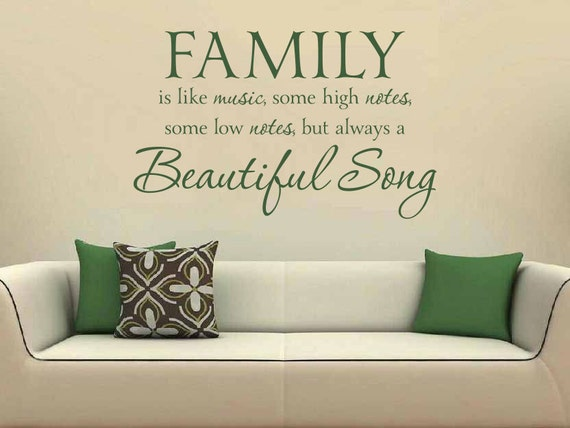 Items Similar To Family Wall Quote: Family Is Like Music