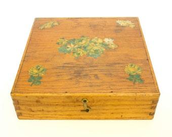 Wood Box,Washi Tape Storage, Jewelry Storage, Keepsake Box, Wooden Box, Vintage Jewelry Organizer, Letter Box, Bedroom Decor,  Office Decor