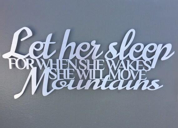 Wall Art Metal Sayings : Let her sleep metal wall art quate bedroom