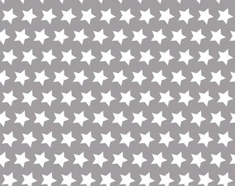 One Yard Riley Blake 2015 Basics - Stars in Gray - Cotton Quilt Fabric - by The RBD Designers for Riley Blake - C315-40 (W3250)